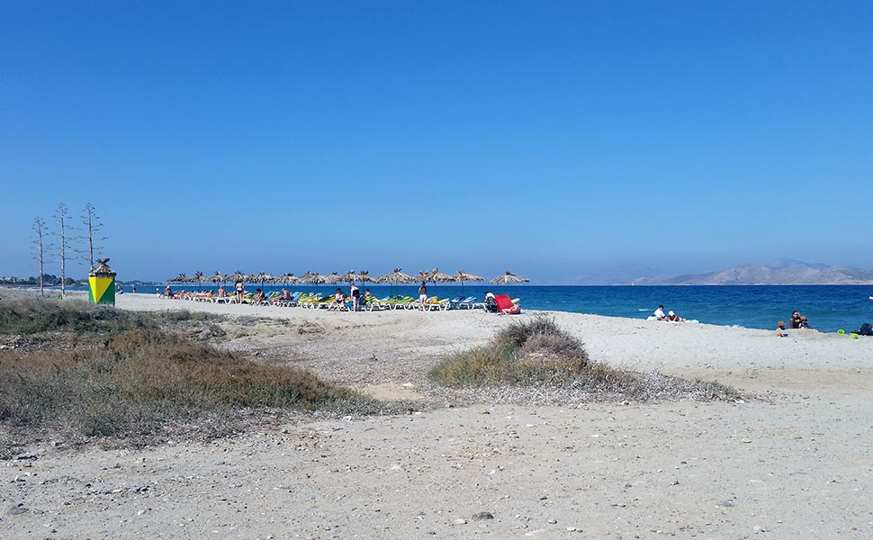 Karnayio beach near Tigaki in Kos Island
