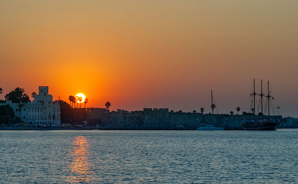 Sunset in Kos town