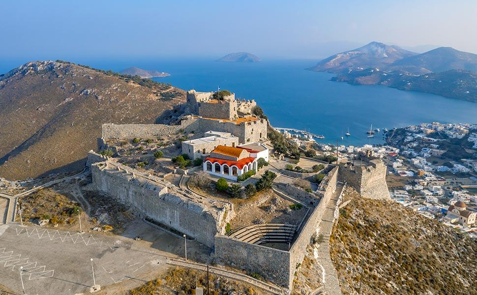 Leros , castle of Panteli