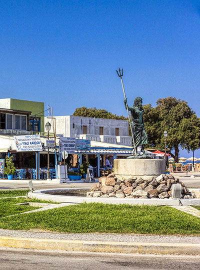 central square in Mastichari Kos