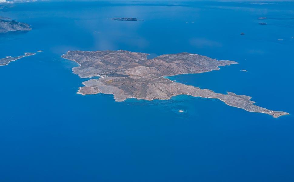 Pserimos Island aerial  view