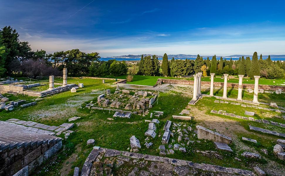Κολόνες ναού Απόλλωνα Ασκληπιείο Κω