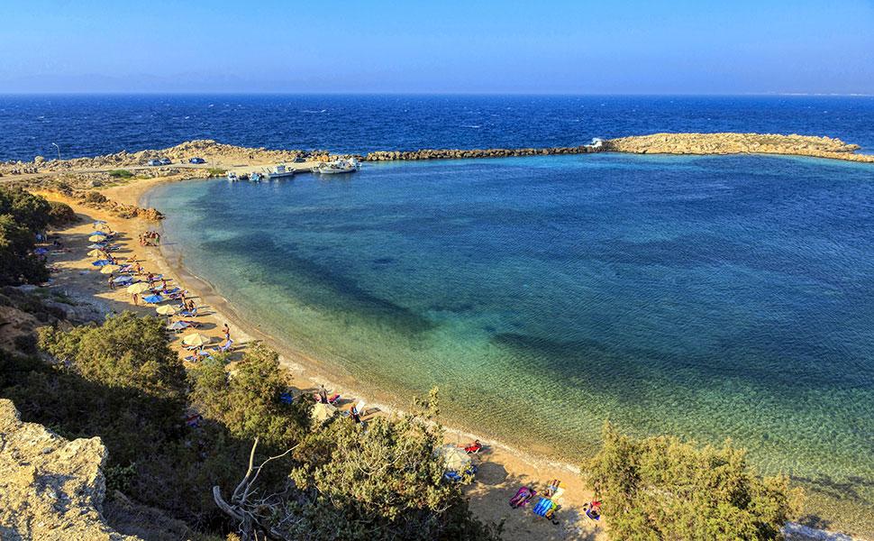 Limnionas beach in Kefalos Kos island