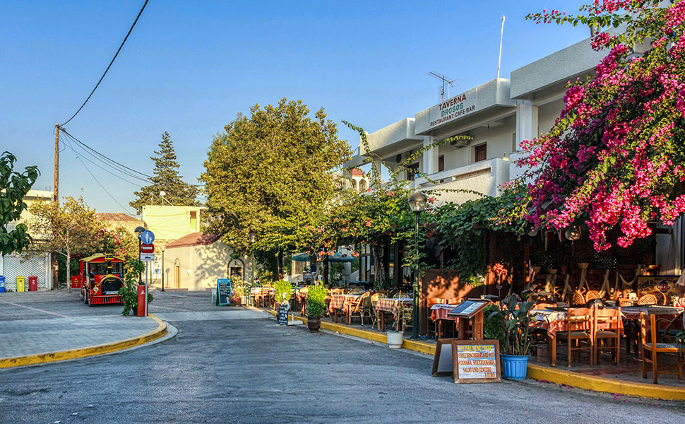 Square at Pyli village in Kos