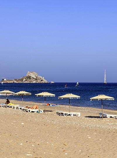 Kamari beach in Kefalos