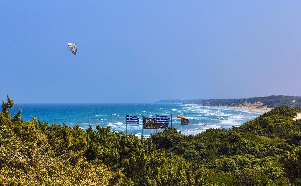 Kitesurfing in Kohilari beach