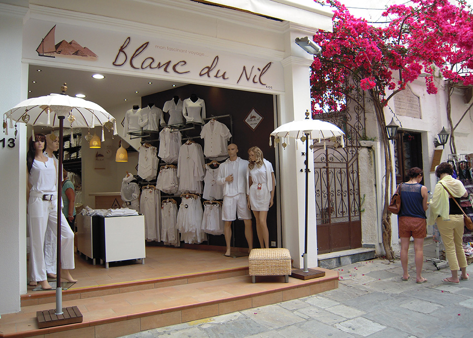 Blanc Du Nil - store in Kos