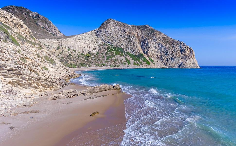 Cavo paradiso beach in Kos Island