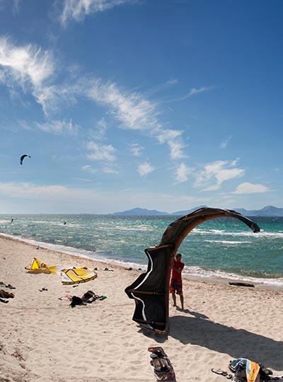 Kohilari beach Kos - Kite surfing paradise