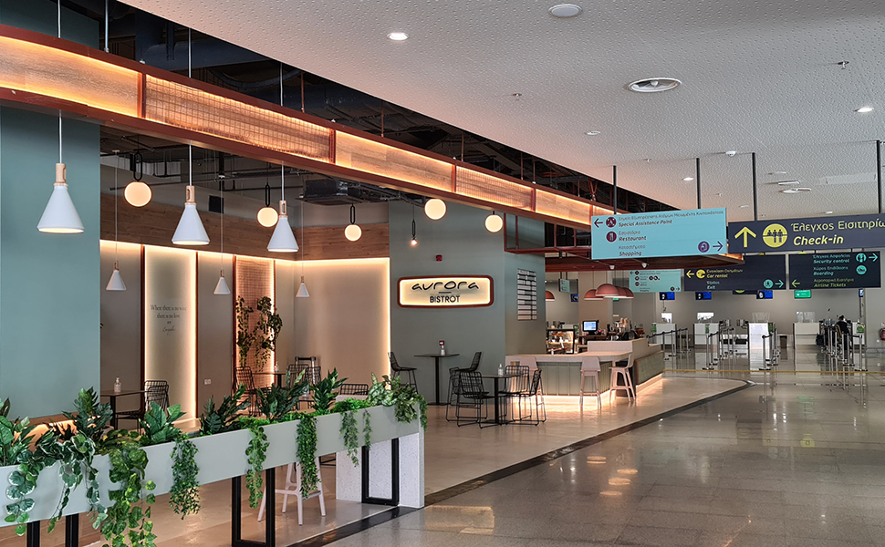 Κως αεροδρόμιο - Αurora Bistrot στην αίθουσα αφίξεων