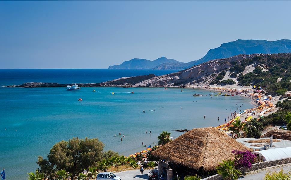 Paradise sandy beach in Kefalos - Kos Island