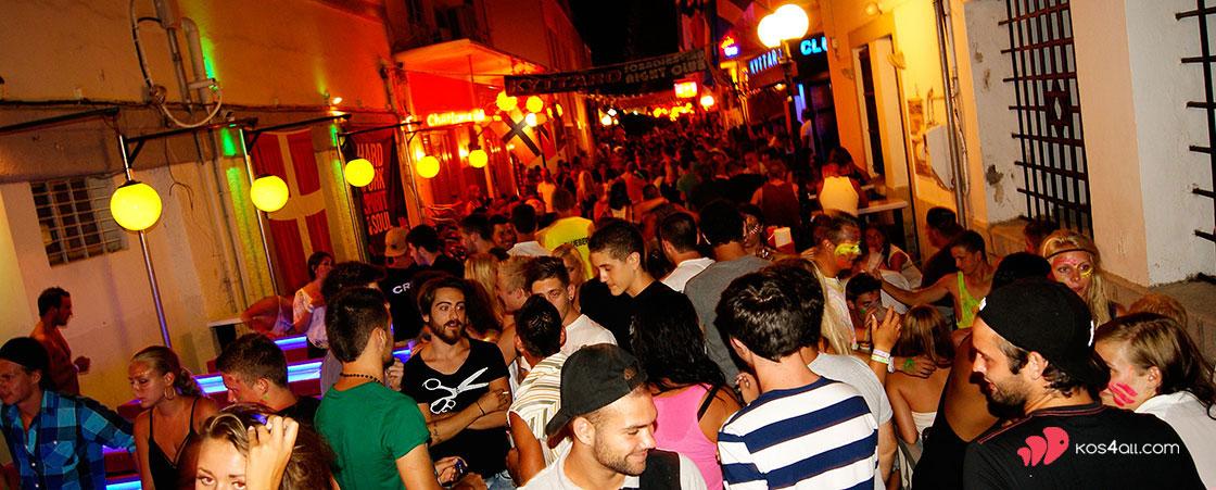 Kyttaro Club in bar street - Kos town