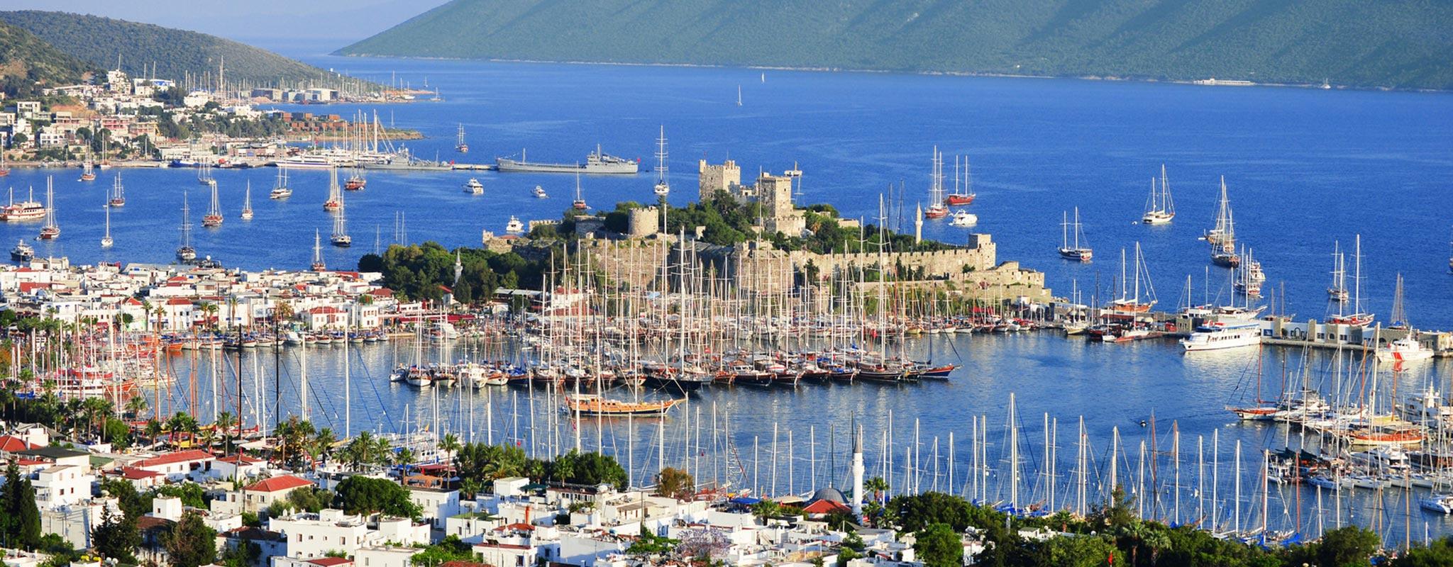 Το Λιμάνι στο Μπόντρουμ (Αλλικαρνασός) στην Τουρκία