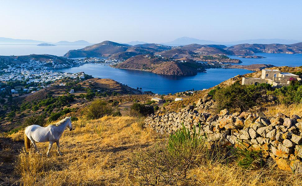 Patmos island view