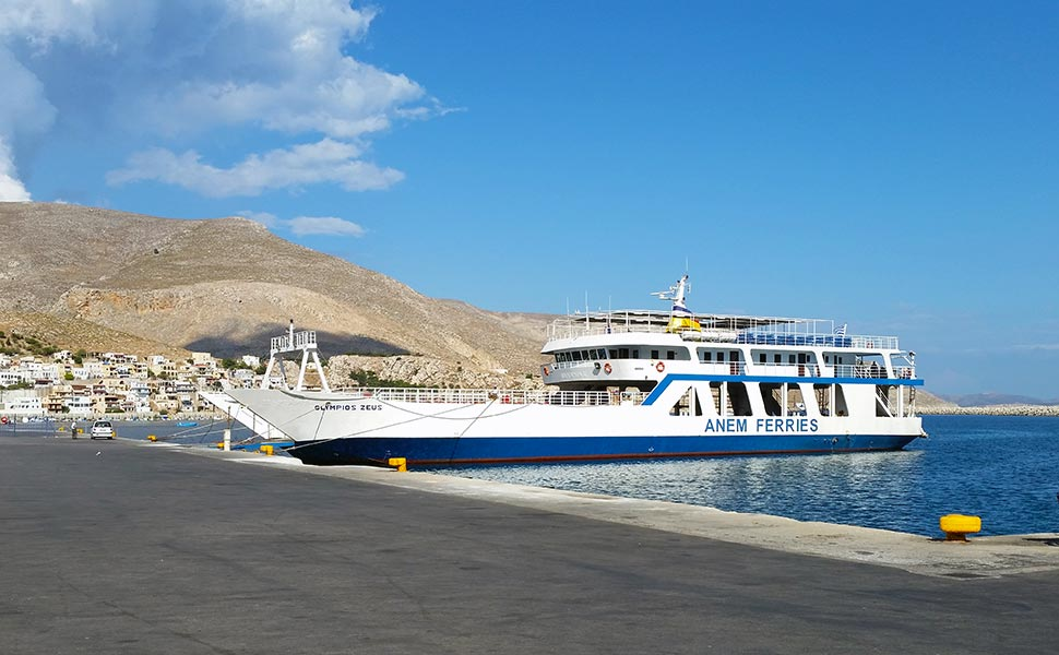 Olympios Zeus. Ferry from Kos to Kalymnos