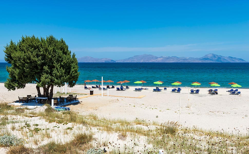 Όμορφη παραλία στο Bravo - Μαστιχάρι - Κως