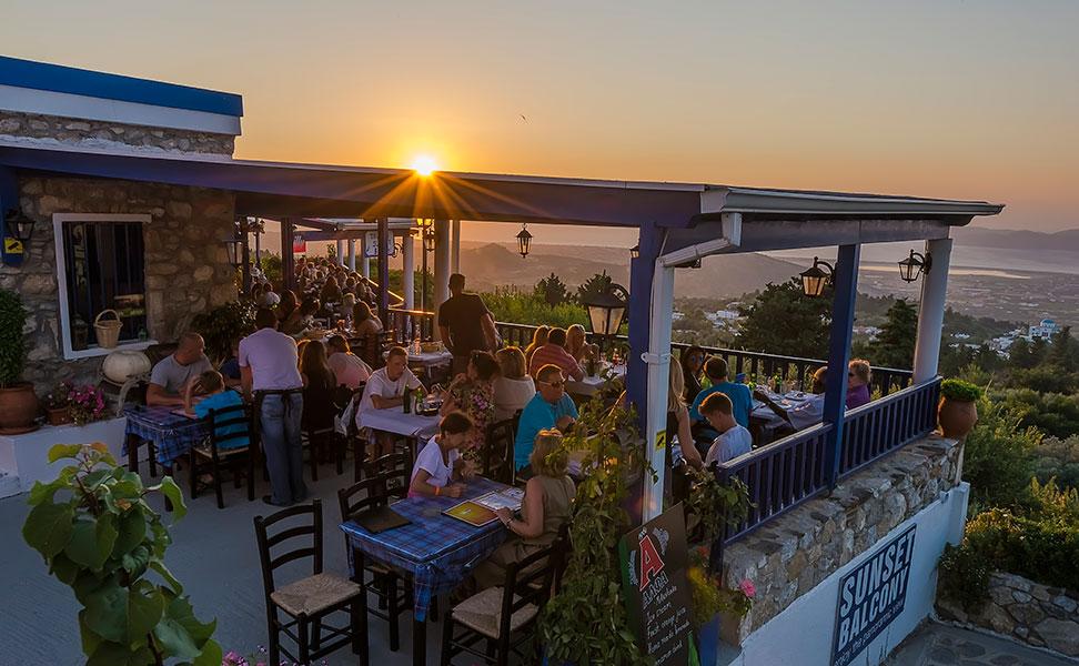 Sunset Balcony taverna at Zia Village, Kos