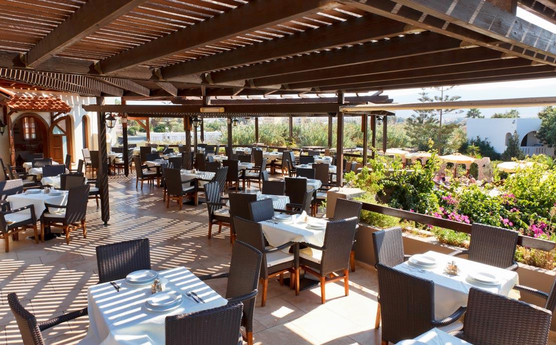 Restaurant outdoor at Gaia Garden Hotel
