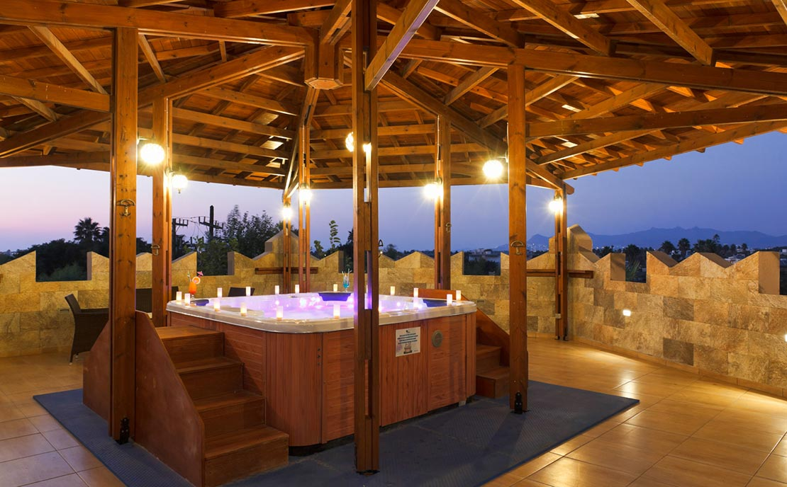 Relaxing time at Jacuzzi of Gaia Garden Hotel