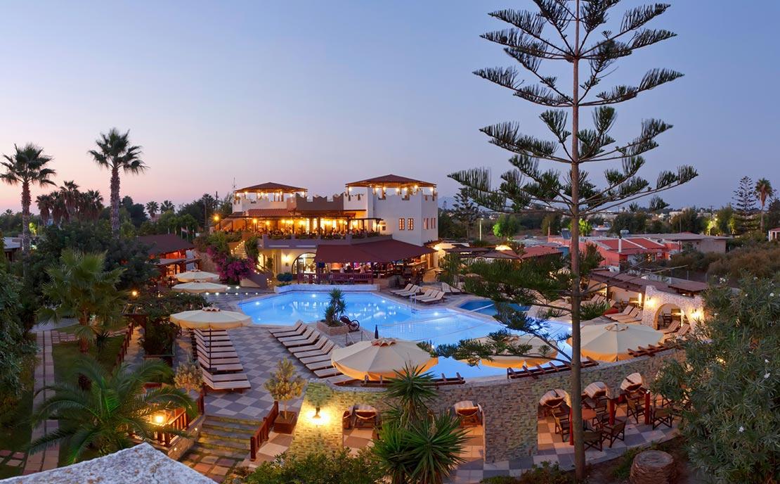 Pool at Gaia Garden Hotel, night view