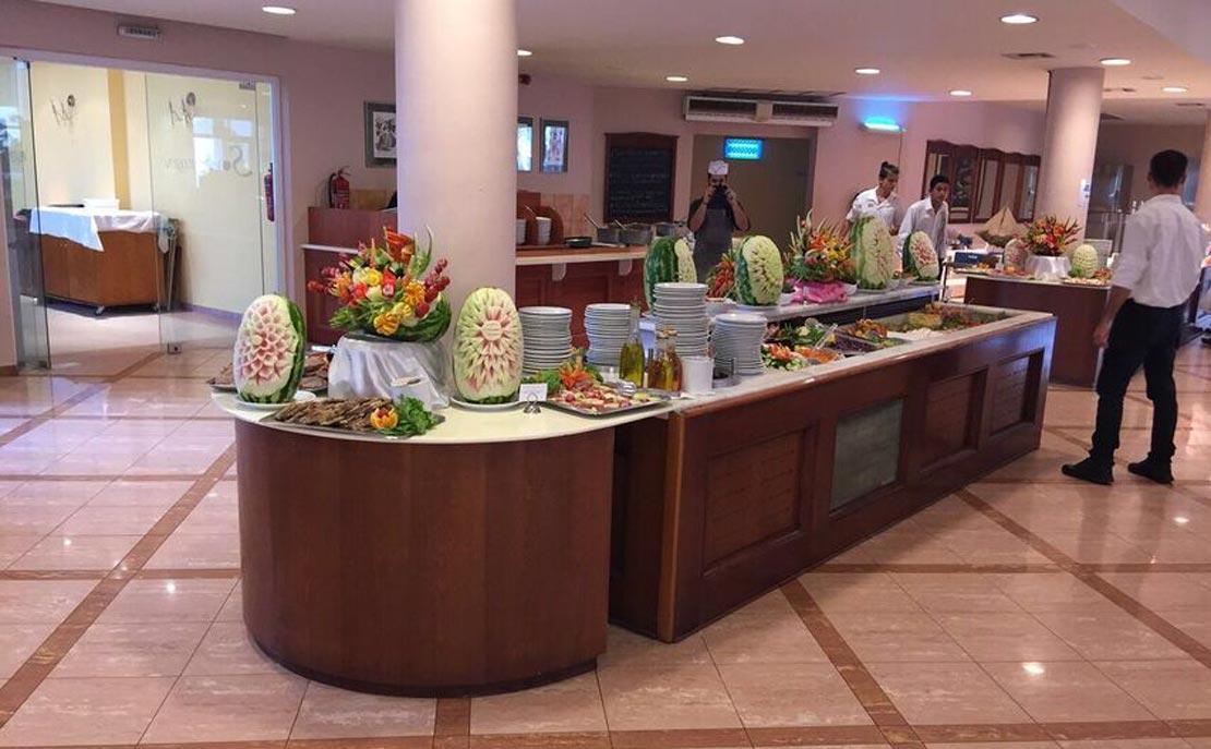 Buffet at Sovereign Beach Hotel